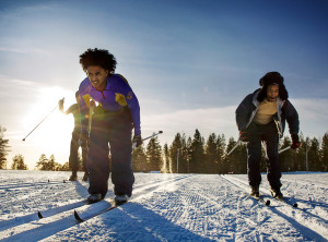 Refugee ski training